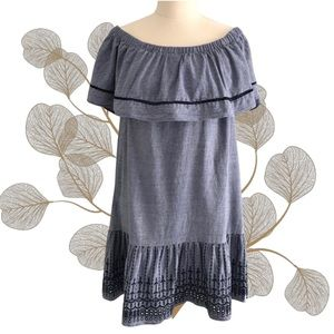 SEED HERITAGE Off The Shoulder Cotton Dress